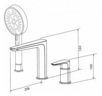 AM PM Inspire F5001300 смеситель для ванны