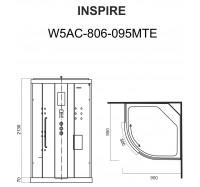 Am Pm Inspire W5AC-806-095MTE гидромассажный бокс