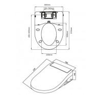 Am Pm Admire CEB7851WH электронная крышка для унитаза с биде