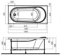 Ванна акриловая Am Pm Spirit 150х70 см. W72A-150-070W-A2