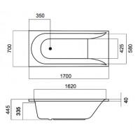 Акриловая ванна Am Pm Spirit 170х70 см. W72A-170-070W-A2