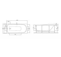 Ванна акриловая Am Pm like W80A-150-070W-A 150х70 см