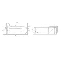 Ванна акриловая Am Pm Like W80A-170-070W-A 170х70 см