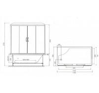 Гидромассажный бокс Am Pm Bourgeois W65B-170A080WTB 170х80 см