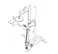 Am Pm Like F0780500 душевая система с термостатом