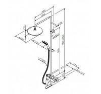 Am Pm Like F0780900 душевая система со смесителем