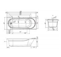 Акриловая ванны Am Pm Joy W95A-170-070W-A 170х70 см.