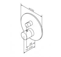 Am Pm Like F8075600 смеситель для душа с термостатом