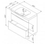 Тумба для ванной комнаты Am Pm Like M80-FHX0802-WC0802-38 80 см. подвесная
