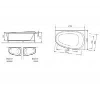 Акриловая ванна Am Pm Like 170х110 см. W80A-170L110W-A
