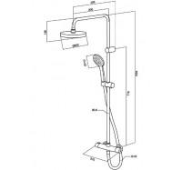 Am Pm Sense F0775000 душевая система с термостатом