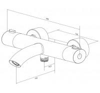 Смеситель для ванны Am Pm Sense F7550064 с термостатом
